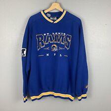Vintage 90s St Louis Rams NFL Blue Lee Sports  Sweatshirt Crewneck Size XL