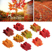 100x Fake Fall Maple Leaves Autumn Leaf Wedding Party Art Home Wall Floral Decor