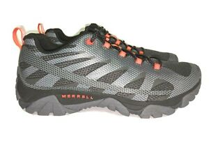 NEW- Merrell Moab Edge 2 Men's Size 10.5 M Hiking Shoes Black / Orange MSRP $139