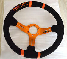 350mm Suede Leather Deep Dish Steering Wheel Rally Drift