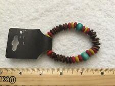 Wood Bead Tribal Lady Men Wrist Bracelet Fashion Jewellery Stretchy Beach Wear