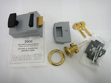 BASTA 2000 SECURITY 40mm NIGHTLATCH NIGHT LATCH IN GREY WITH BRASS CYLINDER NEW
