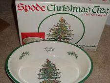 "Spode - CHRISTMAS TREE - 12-1/2"" Oval Vegetable Baker - NIB"