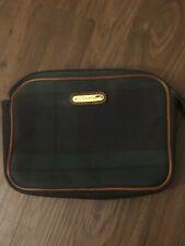 Men's Vintage Polo Ralph Lauren Black watch Plaid Bag Travel Case EUC