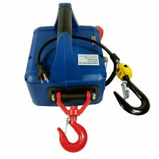 450KG*7.6M Electric Hoist Winch Hoist Crane Lift 110V Remote Control Traction