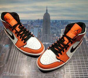 Nike Air Jordan 1 Mid SE Turf Orange/Black-White Mens Size 11 DD6834 802 New