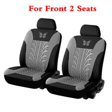 Front 2 Seat Embroidery Car Seat Covers Set With Tire Print Interior Accessories