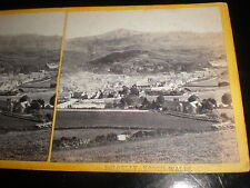 Old stereoview photograph Dolgellau Wales c1870s