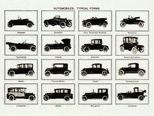 "Postcard-""Various Types of Automobiles"" Classics (V-7)"