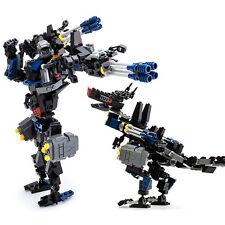 Gudi 8712 Transform Series Dinosaul Wolf Models Building Blocks Educational Toys