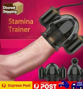 Penis Massager Male Masturbator Glans Vibrator Delay Stamina Trainer Sex Toys