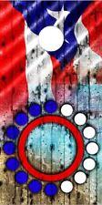 Puerto Rican flag sunset Laminated Cornhole Wrap Bag Toss Skin Decal