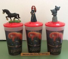 Disney BRAVE theater Topper Figure CUP set of 3 Princess Merida Triplets