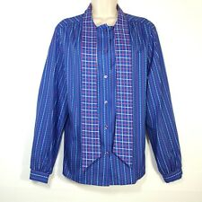 029a1297780712 JC Penney Fashions Womens Size 18 Blouse Shirt Long Sleeve Button Front Tie
