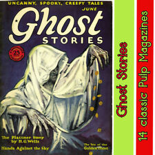 Ghost stories pulp magazine collection 14 issues - horror mystery