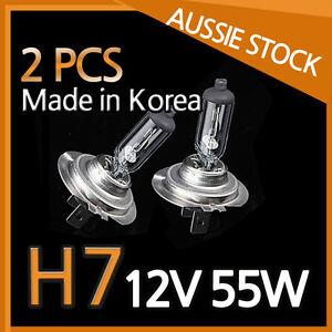 H7 Halogen Light Bulbs Headlight Globes 12V 55W Yellow Warm White CAR NEW 2PCS