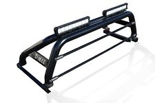 To Fit 12-16 Isuzu D-Max Rodeo Roll Bar + LED + Brake Light + Light Bars - Black