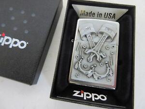 Zippo Engine Parts Pistons Emblem US Car Classic Hot Rod V8 Retro V6 V2 Boxed