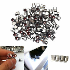 5pcs Car Chrome Tyre Tire Dust Caps Wheel Air Valve Stem Screw Cover Lid Steel