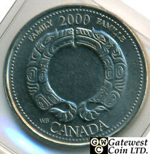 Canadian Roll of 2000 Millennium 25 Cent August-Family Face Value $10.00