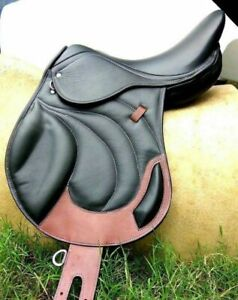 NEW JUMP CLOSE CONTACT LEATHER SADDLE HIGH QWALITY MADE IN INDIA WOODEN TREE