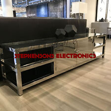 Showroom DEMO: Bernhardt Balboa Polished Stainless Steel Chrome Console