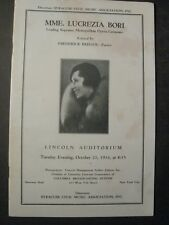 LUCREZIA BORI  Soprano OPERA SINGER VINTAGE 1934 CONCERT PROGRAM