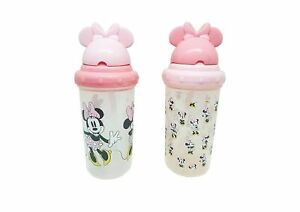 Disney Minnie Mouse Straw Sippers Sippy Cups, 2 Pack, 10 OZ, 6+ Months, FD51149