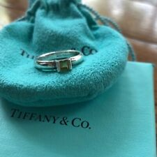 Tiffany & Co. peridot silver ring size 6 (Authentic) Comes with box and dust bag