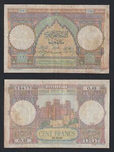 Marocco 100 francs 22.12.1952 BB-/VF-  B-09