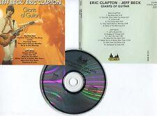 "Jeff BECK / Eric CLAPTON ""Giants of guitar"" (CD)"