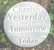 """Inspirational plaque plastic mold mould """" Cherish Yesterday Live Today"""""""