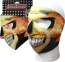 Inferno Flames Skull Full Face Neoprene Mask Reversible Black Biker Ski ATV