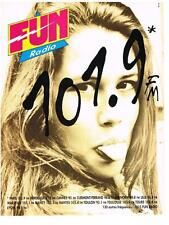 PUBLICITE  ADVERTISING   1994   FUN RADIO    101.9