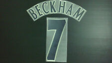BECKHAM #7 Manchester United Centenary Champions League Away 2001-2002 Name Set
