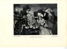 Lucien Simon Maskerade IX.intern. Kunstausstellung München Histor. Druck v. 1905