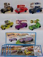 KINDER SORPRESINE SURPRISE FERRERO SET 6x CARS HOT WHEELS MATTEL CAKE TOPPERS
