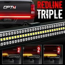 "OPT7 60"" TRIPLE LED Truck Tailgate Bar Amber Sequential Turn Signal Backup Light"