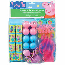 48 Piece Peppa Pig Cartoon Birthday Party Favor Mega Mix Value Pack