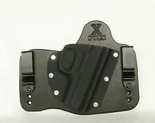 FoxX Leather & Kydex IWB Hybrid Holster Smith & Wesson 3913/3914 Black Right