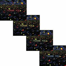 SET OF 4 Thank you cards - Yayoi Kusama Infinity Mirrored Room #2 - Blank inside