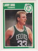 1989-90  LARRY BIRD - Fleer Basketball Card # 8 - BOSTON CELTICS