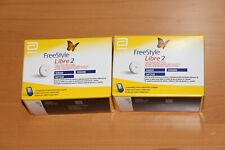 New Original 2 x Freestyle Libre 2 Sensoren MHD 30.04.2021 Worldwide Shipping