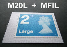 NEW OCT 2020 2nd LARGE M20L + MFIL MACHIN SINGLE STAMP from Booklet