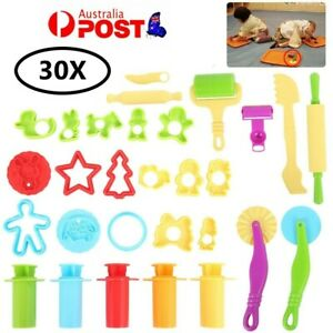 30PCS Dough Tools Extrusion Play Set Modelling Clay Extrusion Mold Kids Toy - AU