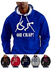 Disabled funny Hoodie Sweatshirt WHEELCHAIR electric  - Smartphone Compatable