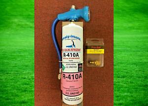 R410a, Refrigerant 410a, LEAK STOP Color Coded Gauge Hose Includes Instructions