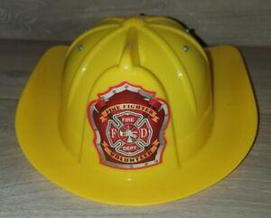 🔥 Fireman's Hard Hat Fire Fighter Helmet Yellow Role Play Dress-Up Fire Man 🔥