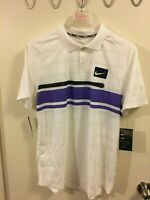 NikeCourt Advantage Tennis Slim Fit Polo Mens Sz S White  AT4158-100 NWT