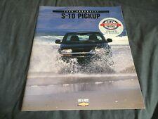 1998 Chevy Chevrolet S10 Pickups Original Brochure Prospekt